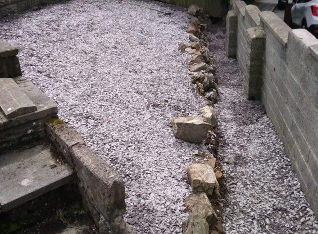 new gravel laid in bridgend