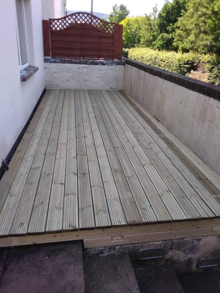 timber decking replacement bridgend